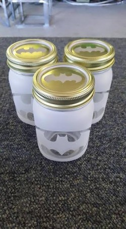 batman mason jars