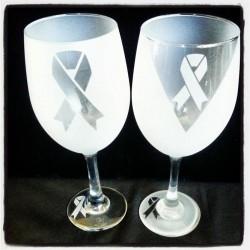 breast cancer wine glasses