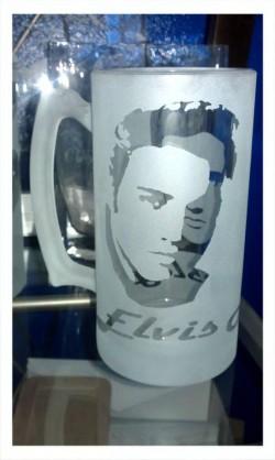 elvis beer mug