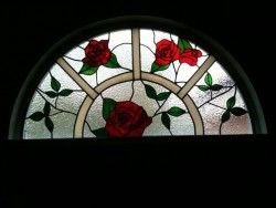 rose arched window